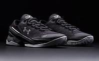 Кроссовки баскетбольные мужские Under Armour curry low  черно-серые