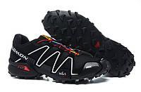 Кроссовки Salomon Speedcross 3 Black-red М03  кроссовки мужские