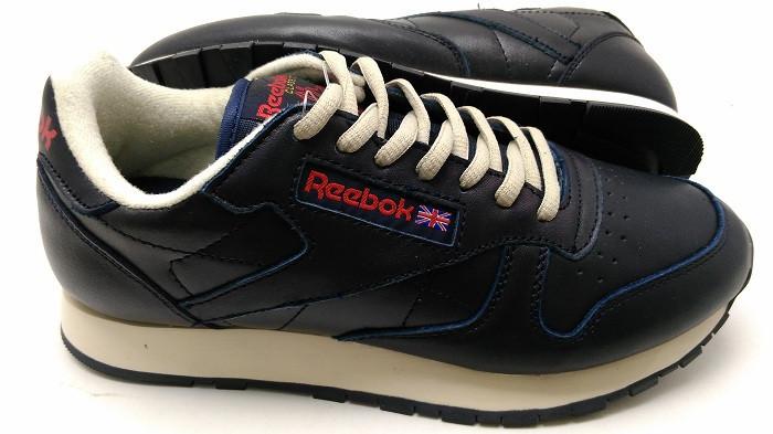 Мужские Кроссовки Reebok CL Classic в синем цвете кожа