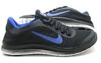 Кроссовки беговые Nike Free Run 3.0 V6 Black-blue