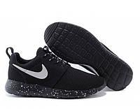 Женские кроссовки Nike Roshe run II cosmos черные с белым , фото 1