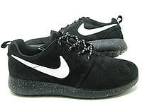 Кроссовки женские Nike Roshe Run II Cosmos Black-white из натуральной замши