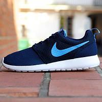 Кроссовки мужские Nike Roshe Run Hyperfuse University Dark Blue