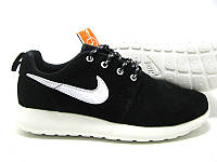Кроссовки женские Nike Roshe Run II Suede Black-white