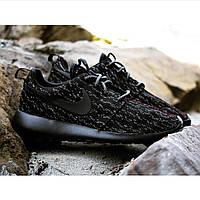 Кроссовки Nike Roshe Run Yeeze черные