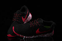 Кроссовки мужские Nike Roshe Run II People Black-red, фото 1