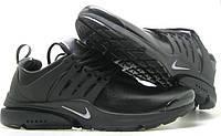Кроссовки мужские Nike Presto 3 кожа в черном цвете