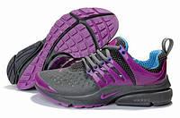 Кроссовки женские Nike Air Presto серо-малиновые