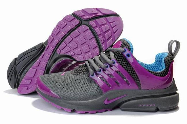 Кроссовки женские Nike Air Presto серо-малиновые , фото 1