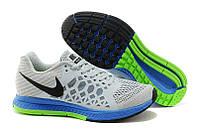 Мужские кроссовки Nike Air Pegasus Pegasus серые с синим в сетку, фото 1