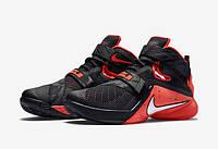 Кроссовки баскетбольные мужские Nike Lebron zoom soldier 9 gr black , фото 1
