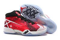 Баскетбольные кроcсовки мужские Nike Air Jordan XXX Galaxy White red , фото 1