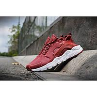 Кроссовки мужские Nike Huarache Ultra кожа красные