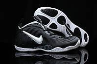 Кроссовки баскетбольные мужские Nike Lebron Foamposite Black-white , фото 1