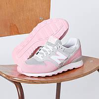 Kроссовки женские New Balance 996 розовые  , фото 1