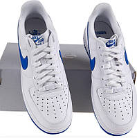 Мужские кроссовки Nike Air Force Low White Blue , фото 1