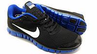 Кроссовки Nike Free Run 3.0 черно-синие