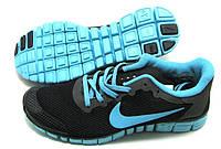 Кроссовки мужские Найк Фри 3.0 черно-бирюзовые . Кроссовки Nike free run 3 43