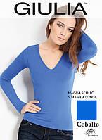 Бесшовная футболка женская (Cobalto (Синий))