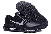 Мужские кроссовки Nike Air max 2017 Кожа черные