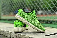 Мужские Кроссовки Adidas Yeezy Boost 350 зеленые