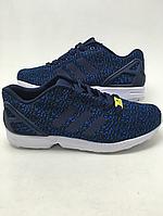 Кроссовки мужские Adidas ZX Flux Flyknit   синие кроссовки адидас