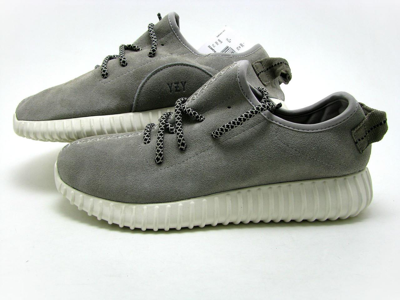 Кроссовки мужские Adidas Yeezy Boost 350 Low Замшевые  серые