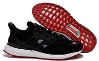 Кроссовки зимние Adidas Ultra boost Black-Red мужские замшевые  кроссовки адидас