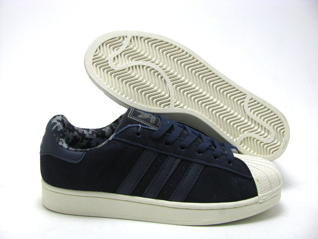 Мужские кроссовки Adidas Superstar 80s City Pack синие замшевые