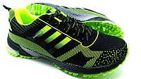 Мужские кроссовки Adidas Marathon TR15 Black-green цвета