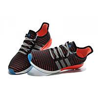 Кроссовки мужские Adidas Gazell Boost  черно-оранжевые