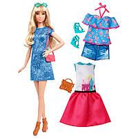 Набор кукла Барби и одежда Barbie Fashionistas Doll & Fashions Lacey Blue