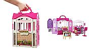 Переносной кукольный дом с мебелью для Барби Barbie Glam House Getaway