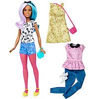 Набор кукла Барби и одежда Barbie Fashionistas Fashions Blue Violet