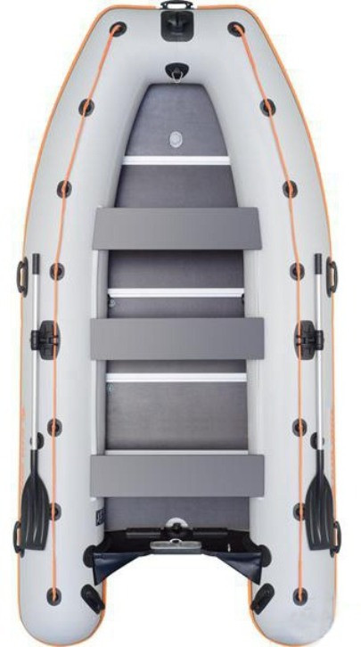 Kolibri KM-450DSL - лодка килевая моторная Колибри 450 с жестким фанерным настилом