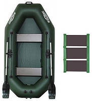 Kolibri К-240 rug - лодка надувная гребная двухместная Колибри 240 с реечным ковриком