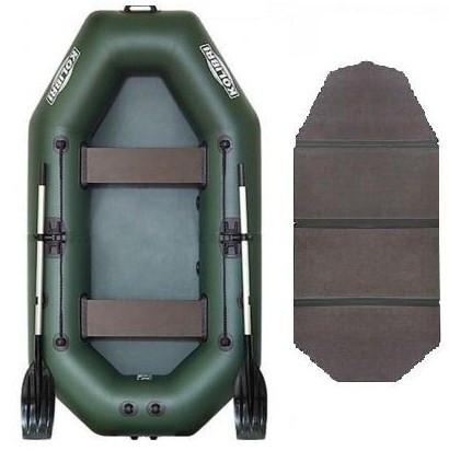Kolibri К-240 book - лодка надувная Колибри 240 с жестким настилом книжкой