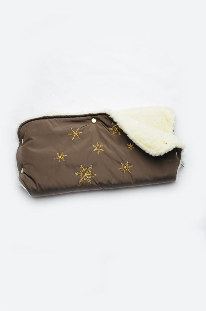 Муфта для коляски на овчине (шоколад)
