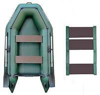 Kolibri КМ-260 rug - лодка надувная моторная двухместная Колибри 260 с реечным ковриком, фото 1