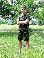 Шорты трикотажные детские для мальчиков камуфляж