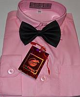 Детская розовая рубашка с бабочкой BENDU (размер 25, 26, 27, 28, 29, 30, 31)