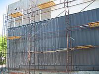 Обшивка существующего фасада ПС-панелями