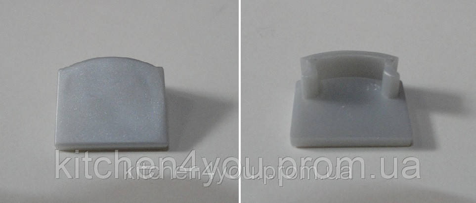 ЗП 12 заглушка для профиля ЛП 12, серый пластик