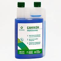 Жидкое концентрированное щелочное моющее дезинфицирующее средство Саникон 1 л. (Интердез)