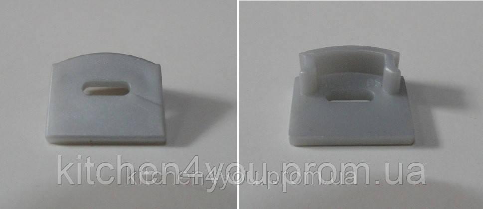 ЗПО 12 заглушка для профиля ЛП 12, серый пластик, с отверстием для кабеля