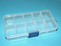 Коробка для бисера 10 ячеек, 13х6,5 см