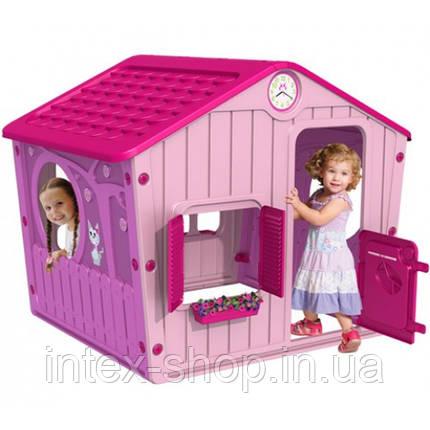 Домик для детей, пластик, открываются ставни и двери, артикул 04-561, фото 2