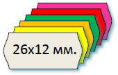 Этикет-лента 26х12 мм для однострочных этикет-пистолетов и нумераторов кроя МЕТО, Blitz, OPEN и т.д.