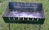 Мангал-чемодан (8 шампуров), толщина 2 мм, разборной, компактный CHZ /