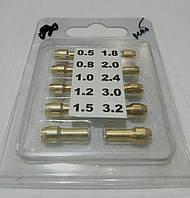 Набор цанг для гравера 4.9 мм (10 шт)